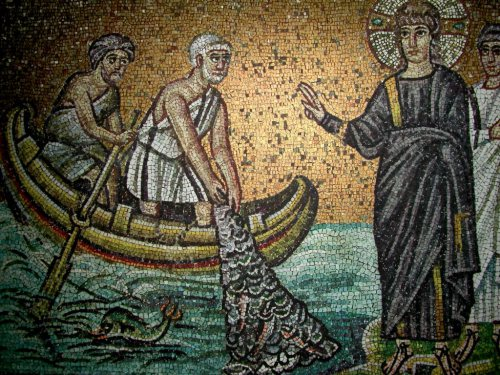 Calling - fishermen - mosaic