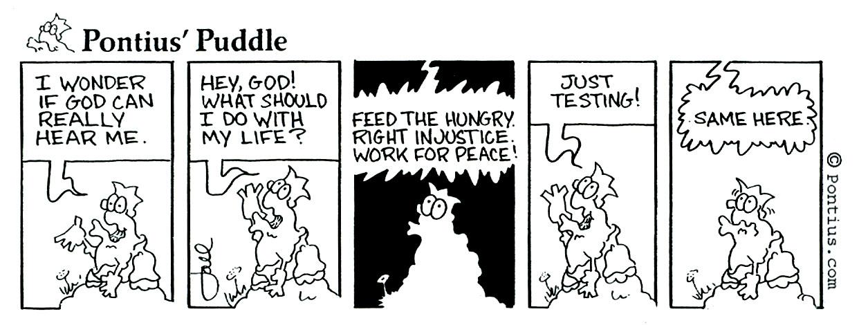 Just testing - Joel Kauffman cartoon