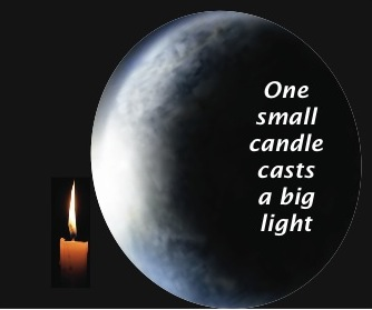 One small candle