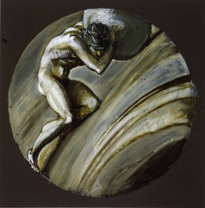 Sisyphus circa 1870 by Sir Edward Coley Burne-Jones, Bt 1833-1898